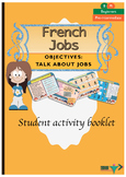 French Jobs, les métiers booklet for beginners
