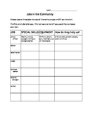 Jobs in the Community Worksheet