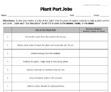 Jobs of the Plant Parts Review