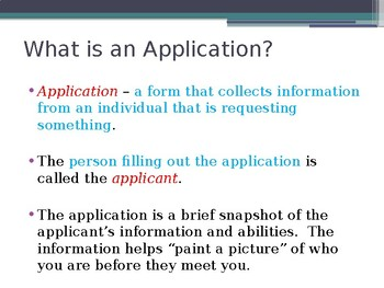 Applications - Part 1 - Intro and Procedures