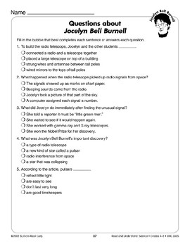 Jocelyn Bell Burnell (Science & Technology/Biography, Astronomy)