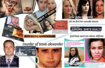 Jodi Arias - Travis Alexander - Murder - Criminal - Abuse Defense - FREE POSTER