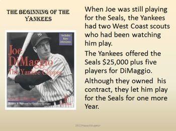 Joe DiMaggio - The Yankee Clipper PowerPoint
