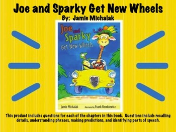 Joe and Sparky Get New Wheels Comprehension Questions