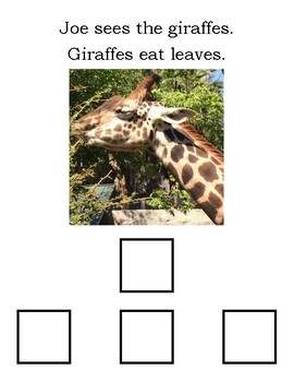 Joe's Trip to the Zoo Adapted Book Lvl 1 (matching)