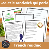 Joe & the talking sandwich - French reading/sub activities