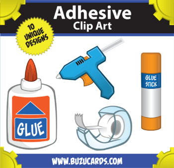 Mr. Guera Clipart: Adhesive Items!