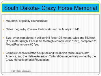 Joe's Notes- South Dakota- Crazy Horse Memorial