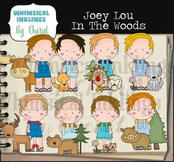 Joey Lou In The Woods Clipart Collection