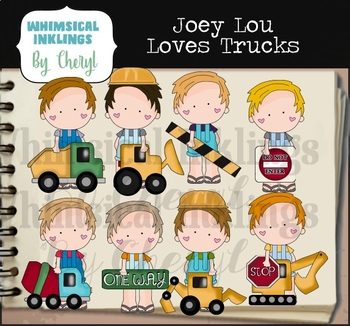 Joey Lou Loves Trucks Clipart Collection