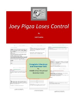 Joey Pigza Loses Control Complete Literature and Grammar Unit