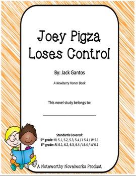 Joey Pigza Loses Control Novel Study