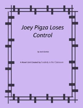 Joey Pigza Loses Control Novel Unit Plus Grammar