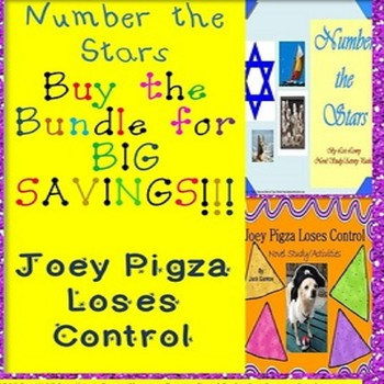 Joey Pigza Loses Control & Number The Stars Novel Study Bundle SPED/ESL