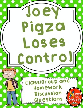 Joey Pigza Loses Control Discussion Questions