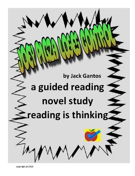 Joey Pigza Loses Control guided reading novel study