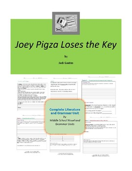 Joey Pigza Loses the Key Complete Literature and Grammar Unit