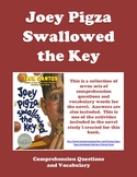 Joey Pigza Swallowed the Key - Comprehension Questions and Vocabulary
