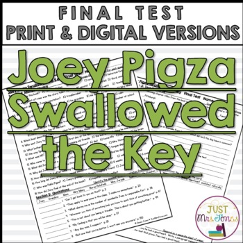 Joey Pigza Swallowed the Key Final Test