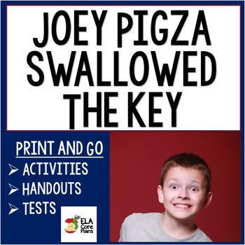 Joey Pigza Swallowed the Key Novel Unit ~ Activities, Handouts, Tests!