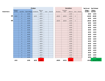 Jog A Thon Tracking Spreadsheet