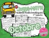Jogga-Math 1re année - OCTOBRE