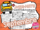 Jogga-Math 1re année - SEPTEMBRE