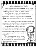 Johann Sebastian Bach   Composer Worksheet