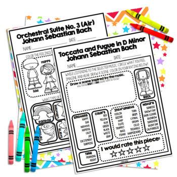 Johann Sebastian Bach, Baroque, Classical Music Listening Sheets, Germany