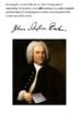 Johann Sebastian Bach Handout