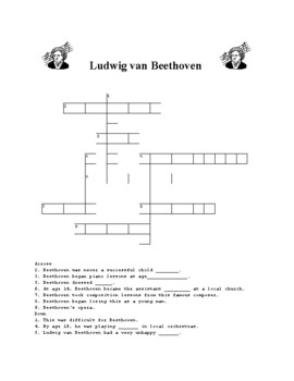 Johann Sebastian Bach short video, word search and fallen phrases puzzle
