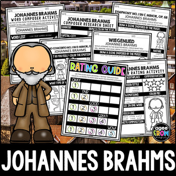 Johannes Brahms German Composer Classical Music Unit Study May Birthday