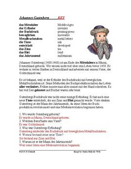 Johannes Gutenberg Biography - German Reading / Lesung auf Deutsch