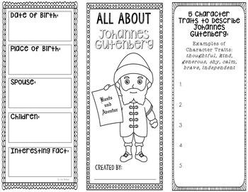 Johannes Gutenberg - Inventor Research Project Interactive Notebook, Scientist