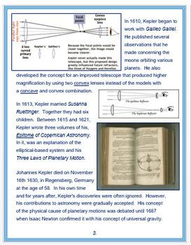 Johannes Kepler + Assessment