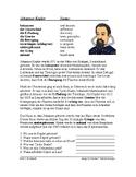 Johannes Kepler Biography - German Reading / Lesung auf Deutsch