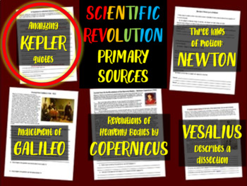 Johannes Kepler - Scientific Revolution Primary Source with guiding questions