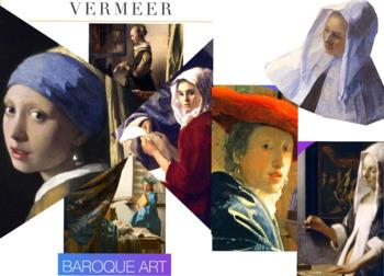 Johannes Vermeer - Baroque Era - Art History - Vermeer - FREE POSTER