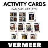 Johannes Vermeer - Famous Artist Activity Cards - Art Unit
