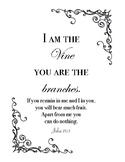 John 15:5 Printable / Coloring page