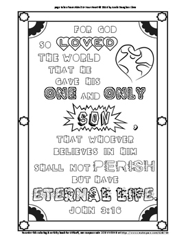 john 3 16 coloring page and word puzzles by annie lima tpt john 3 16 coloring page and word puzzles