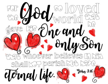 John 3:16 Coloring Sheet