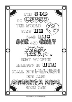 John 3 16 Coloring And Journal Pages By Annie Lima Tpt