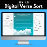 John 3:16 Digital Memory Verse Sort Activity (Distance Learning)