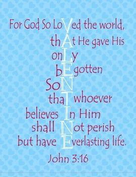 John 3:16 Valentines