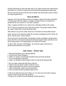 John Adams - A Short Biography for Kids (with reading quiz)