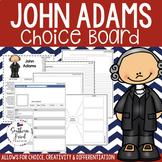 US Presidents - John Adams Choice Board