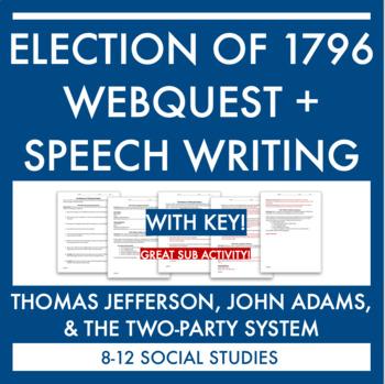 John Adams & Election of 1796 Webquest