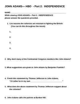"John Adams HBO Part II ""Independence"""