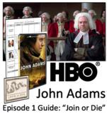 "John Adams HBO Series Episode 1 - ""Join or Die"" Video Graphic Organizer"